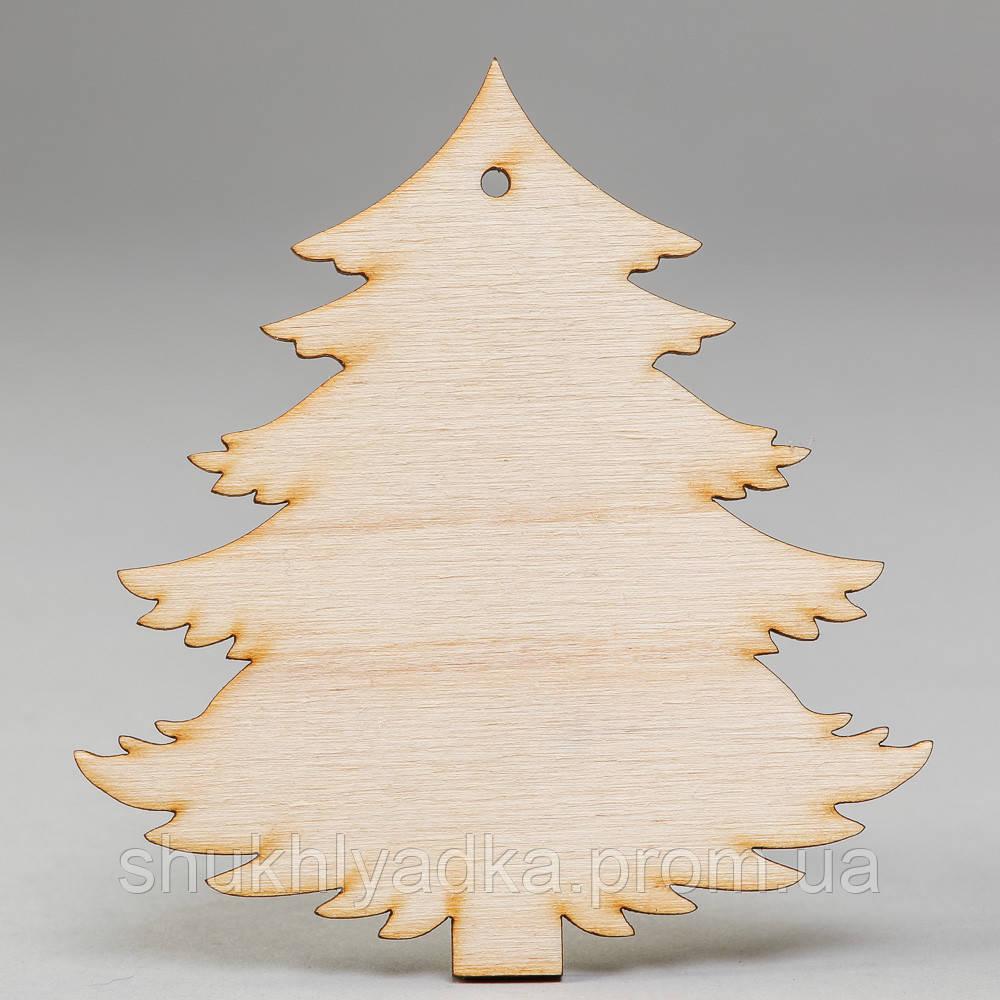 """Новогодняя деревянная елочная игрушка Подвеска """"Елочка с пеньком""""_деревянный декор_Новый год"""