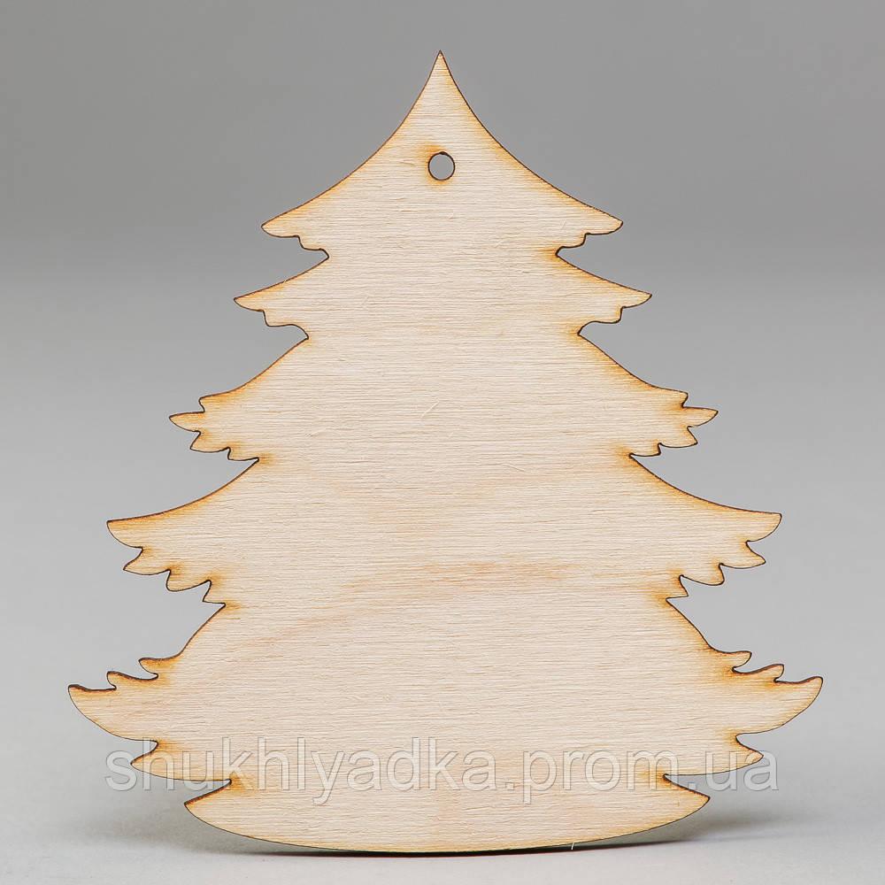 """Новогодняя деревянная елочная игрушка Подвеска """"Елочка""""_деревянный декор_Новый год"""