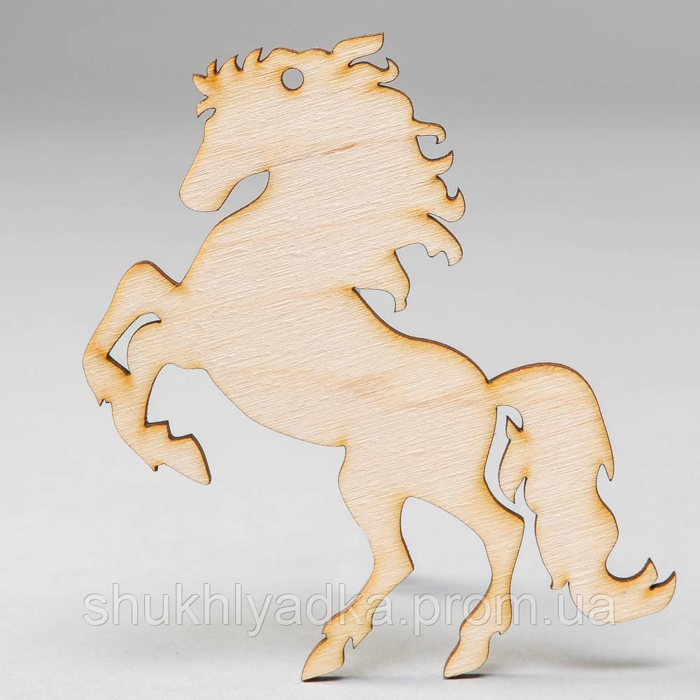 """Новогодняя деревянная елочная игрушка Подвеска """"Лошадка деревянная""""_деревянный декор_Новый год"""