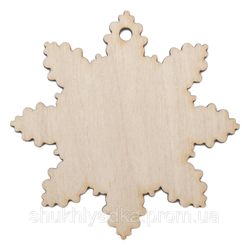 Снежинка_деревянный декор_Новый год