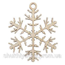"""Новогодняя деревянная елочная игрушка Снежинка  """"Иней""""_деревянный декор_Новый год. Заготовка"""