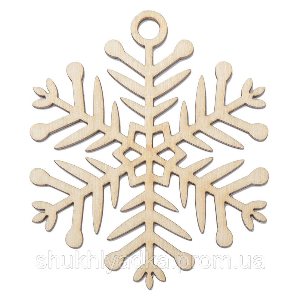 """Новогодняя деревянная елочная игрушка Снежинка  """"Настоящая""""_деревянный декор_Новый год. Заготовка"""