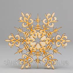 """Новогодняя деревянная елочная игрушка Снежинка """"Сказка""""_деревянный декор_Новый год. Заготовка"""