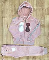 Велюровый костюм 2 в 1 для девочек оптом, S&D, 116-146 см,  № CH-5312, фото 1