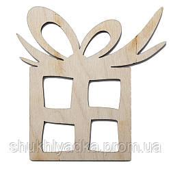 """Новогодняя елочная игрушка """"Подарок""""_деревянный декор_Новый год"""