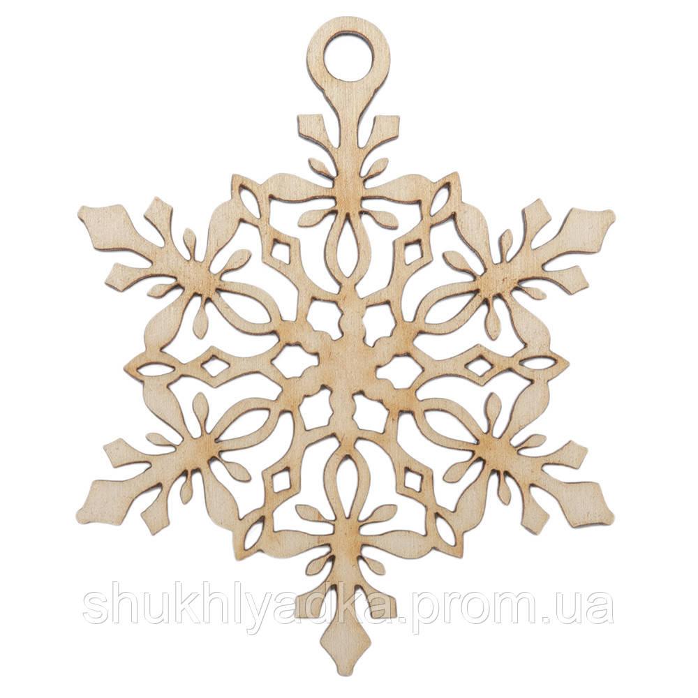 Снежинка подвеска_4_деревянный декор_Новый год