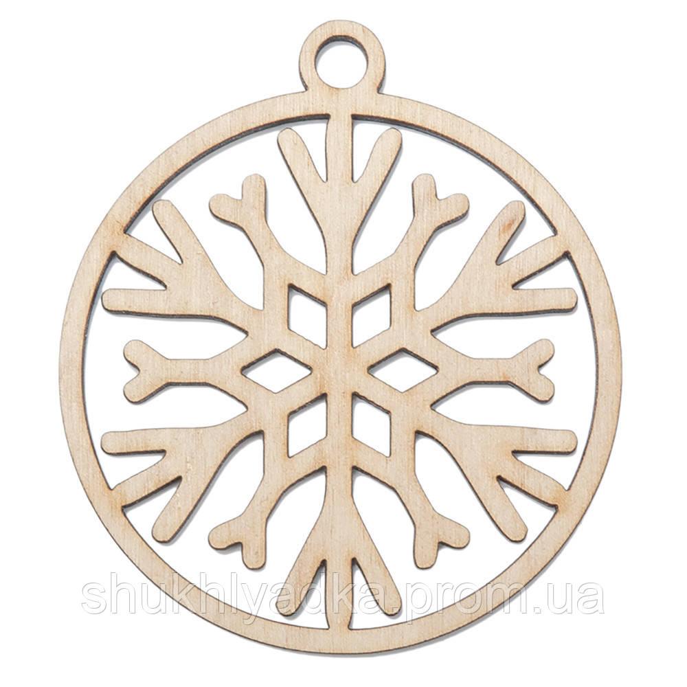 Снежинка в шаре_3_деревянный декор_Новый год