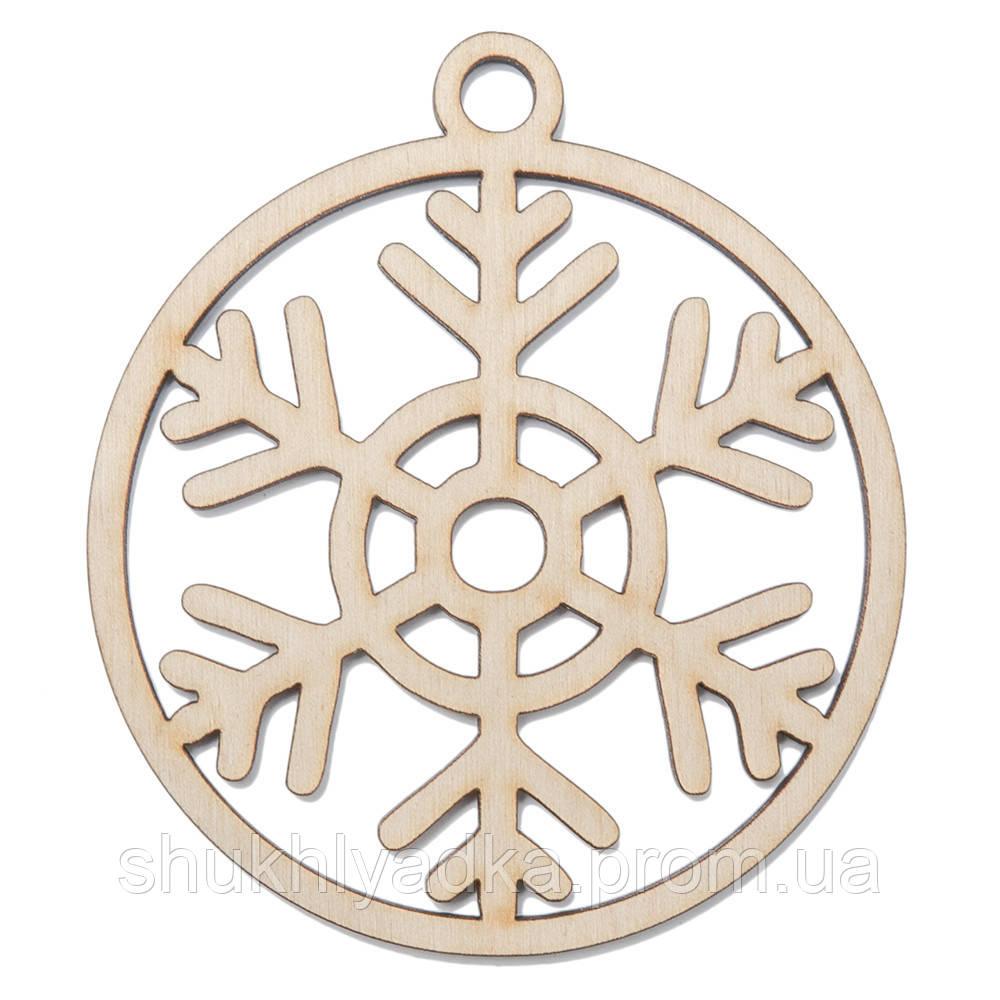 Снежинка в шаре_6_деревянный декор_Новый год