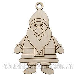 "Новогодняя елочная игрушка ""Дедушка Мороз""_Новогодний декор_фанера"