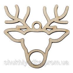 Новогодняя деревянная елочная игрушка Подвеска Олень_1_Новогодний декор_фанера