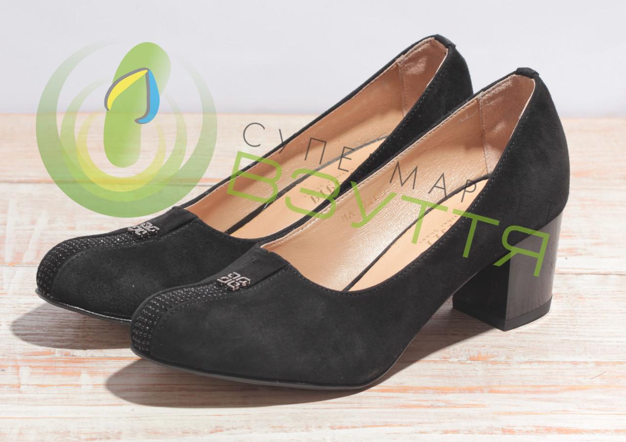 Туфли женские замшевые  МАРІНІ 43 ч/з  35-40 размеры