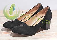 Туфли женские замшевые  МАРІНІ 43 ч/з  35-40 размеры, фото 1