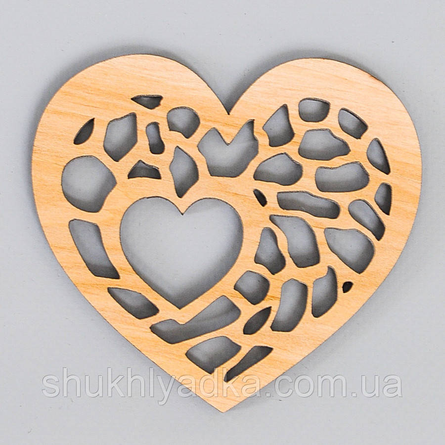 Сердце_мозайка_для украшения подарков