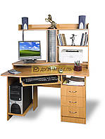 Угловой компьютерный стол с надстройкой КОНТУР