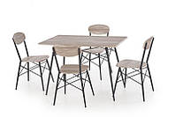 Кухонный комплект Halmar KABIR + 4 кресла