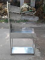 Тележка для сбора жира картофеля фри б/у, подставка для корзин б у, аксессуары для фритюрницы бу , фото 1