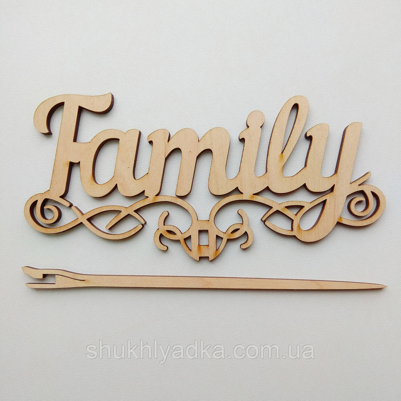 """Топпер """"Family""""_для букетов и тортов_фанера"""