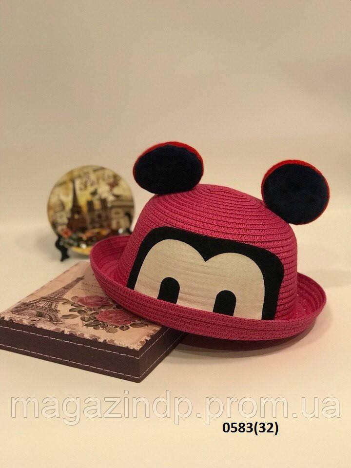 Летняя  детская шляпка с ушками 0583(32) Код:718709167
