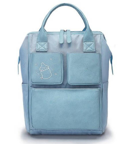Рюкзак-органайзер для мам и родителей Machine Birds голубой