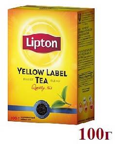Чай Lipton Yellow Lable (черный) 100г, фото 2