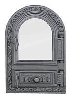 Дверки чугунные Halmat FPM1R со стеклом. Дверцы для печи и барбекю