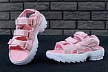Сандалии женские FILA Disruptor 30633 розовые, фото 4