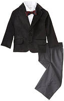 Нарядный костюм с чёрным вельветовым пиджаком на мальчика 2-6 лет