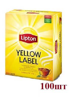 Чай Lipton Yellow Lable (черный) 100пак , фото 2