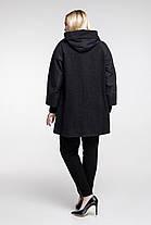 Демисезонное пальто плащевка и пальтовая ткань  Большие размеры 48, 50, 52, фото 2