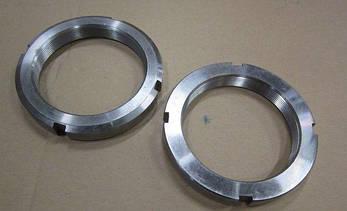 Гайка М15 (КМ 2) стальная круглая шлицевая DIN 981, фото 2