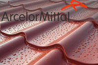Металлочерепица обычная  премиум с глянцевым полимерным покрытием