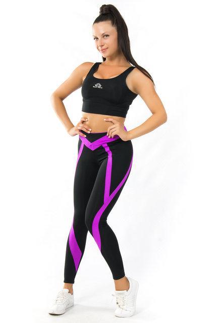 Женский спортивный комплект (42-44; 44-46; 46-48) (фуксия) костюм для спорта и фитнеса из бифлекса