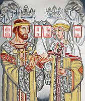 Схема для вышивки бисером Св. Петр и Св. Феврония