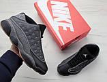 Кроссовки мужские Air Jordan 13 30757 черные  , фото 2