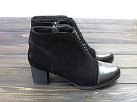 Осенние ботиночки натуральная замша низкий каблук, фото 1