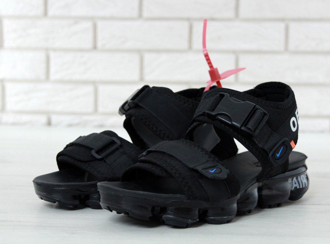 Сандалии мужские  Off white x Nike Air VaporMax 30634 черные