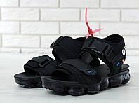 Сандалии мужские  Off white x Nike Air VaporMax 30634 черные , фото 1