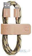 Кабель USB Momax Elit Link Lightning Cable Woven Braid 2.4A Gold (DDMMFILFPL), фото 1