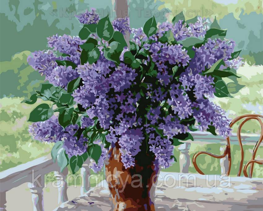 Картина по номерам 40х50 Сирень в вазе (GX7801)