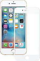 Защитное стекло Mocolo 2.5D Full Cover Tempered Glass iPhone 6/6s Plus Silk White #I/S