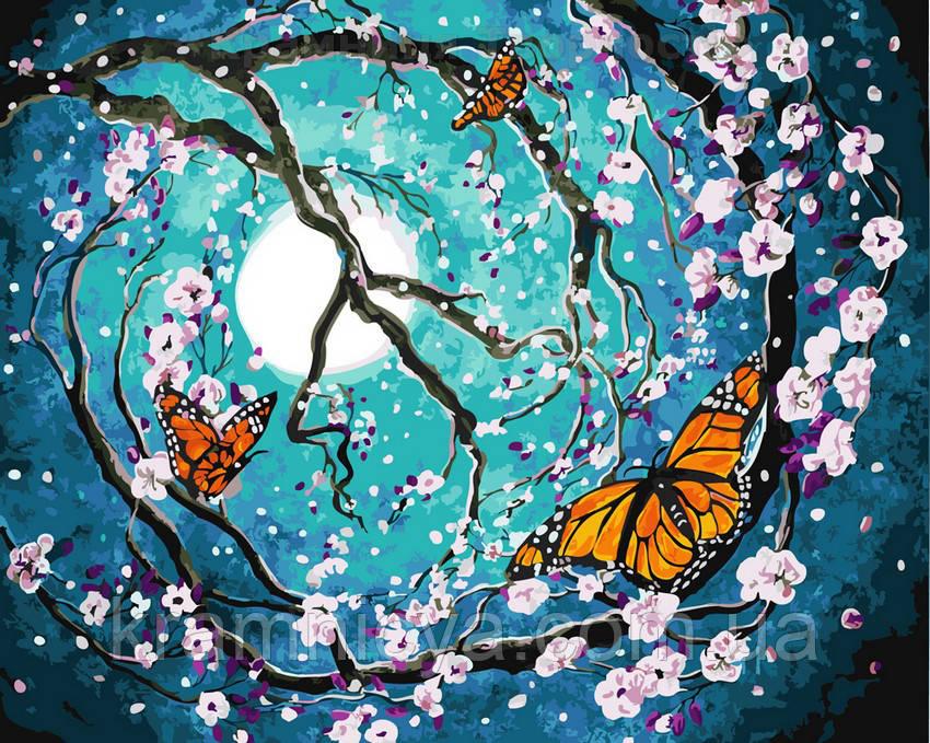 Картина по номерам 40х50 Бабочки в лунном свете (GX21601)