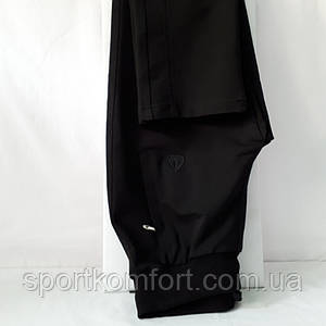 Жіночі спортивні трикотажні штани Соккер, чорні, розмір 44, 46.