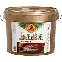 Eskaro Good Wood Антисептик 9 л - на масляной основе предназначен для деревянных фасадов и срубов