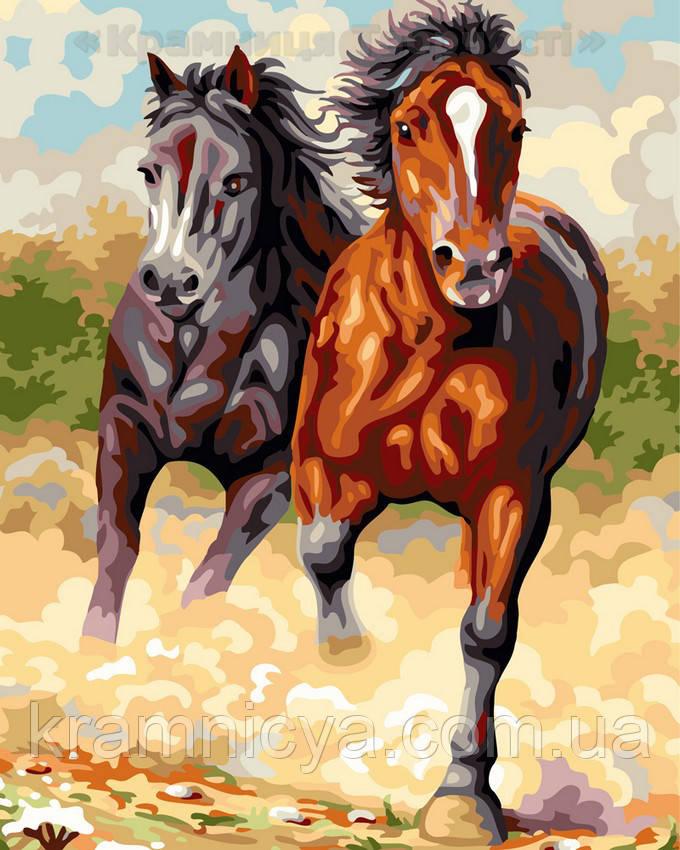 Картина по номерам 40х50 Степные лошади (GX24091)