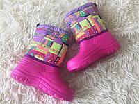 Детские зимние розовые сапожки оптом, фото 1