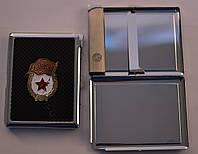 Портсигар с зажигалкой на 10 сигарет №3301-2