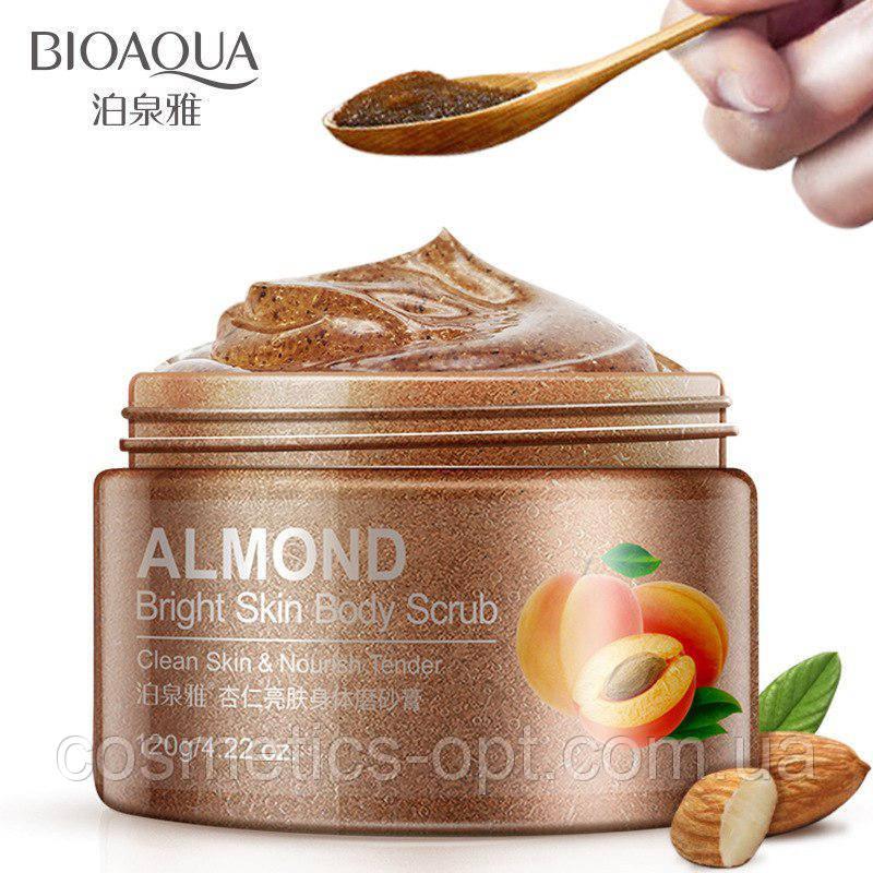 Скраб для тела BIOAQUA омолаживающий с грецким орехом, миндалём и абрикосом