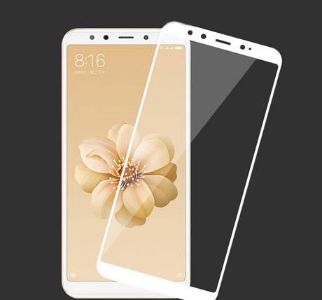Стекло Full Coverage для Xiaomi MI A2 цвет White, фото 2