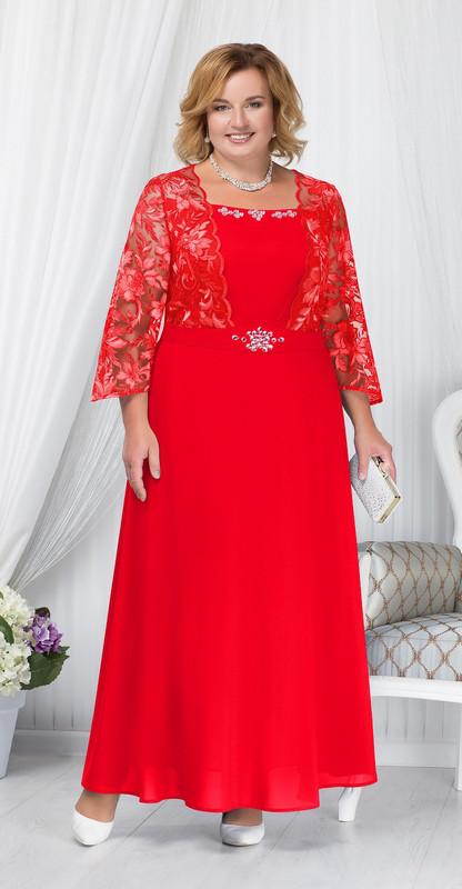 Платье Ninele-5657 белорусский трикотаж, красный, 54