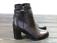 Кожаные женские ботиночки на каблуке Anna Lucci, фото 1